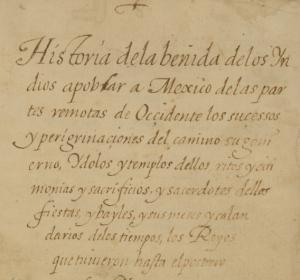 Historia de la benida   Joan de Tovar