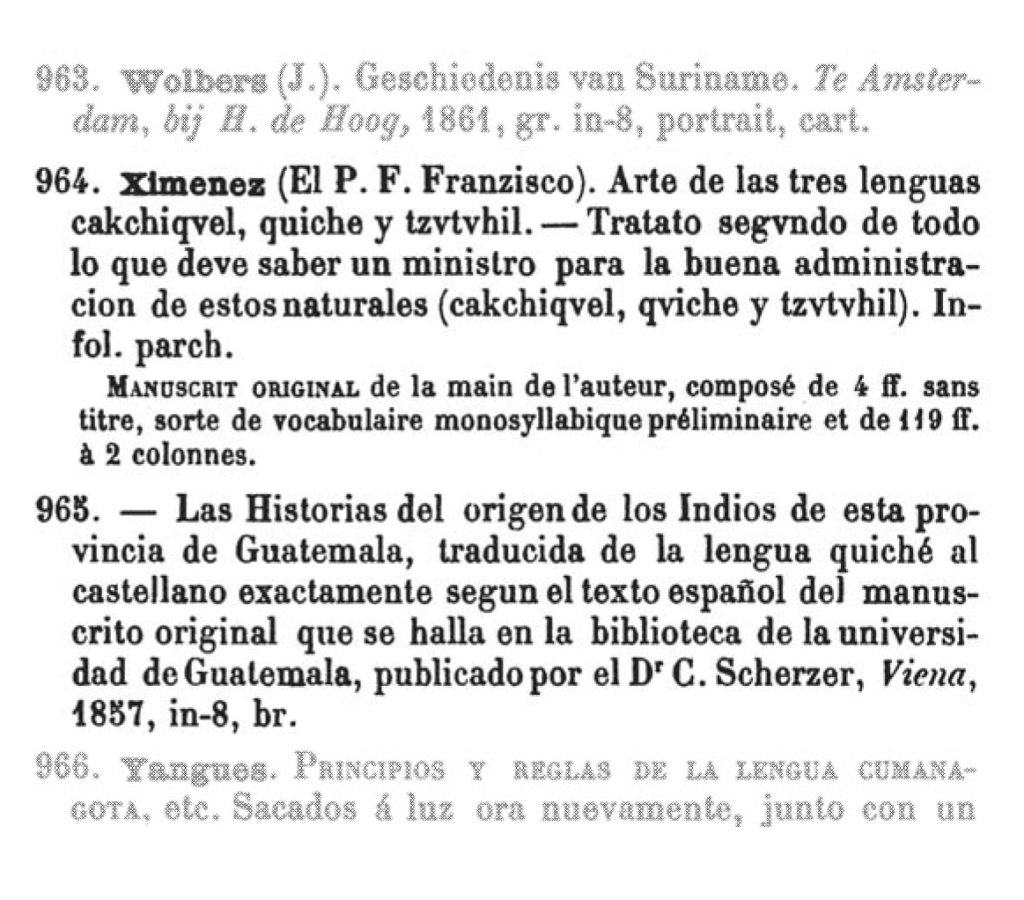 Figure 9 - Ximénez entries in the Pinart auction catalog